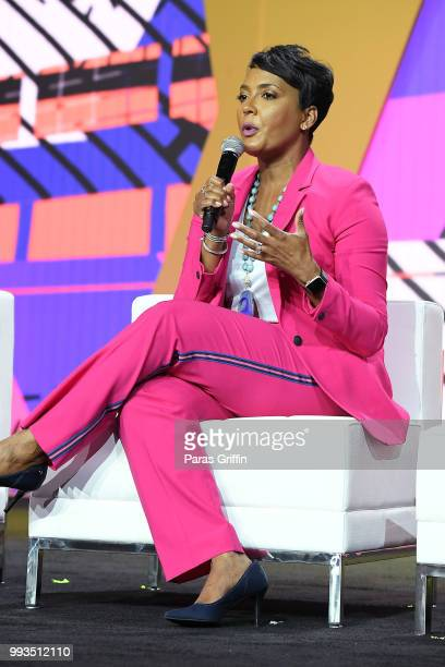 Mayor of Atlanta Keisha Lance Bottoms speaks onstage during the 2018 Essence Festival presented by CocaCola at Ernest N Morial Convention Center on...