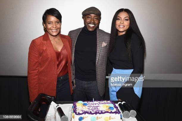 Mayor of Atlanta Keisha Lance Bottoms Will Packer and Taraji P Henson attend a special screening of 'What Men Want' at Regal Atlantic Station on...