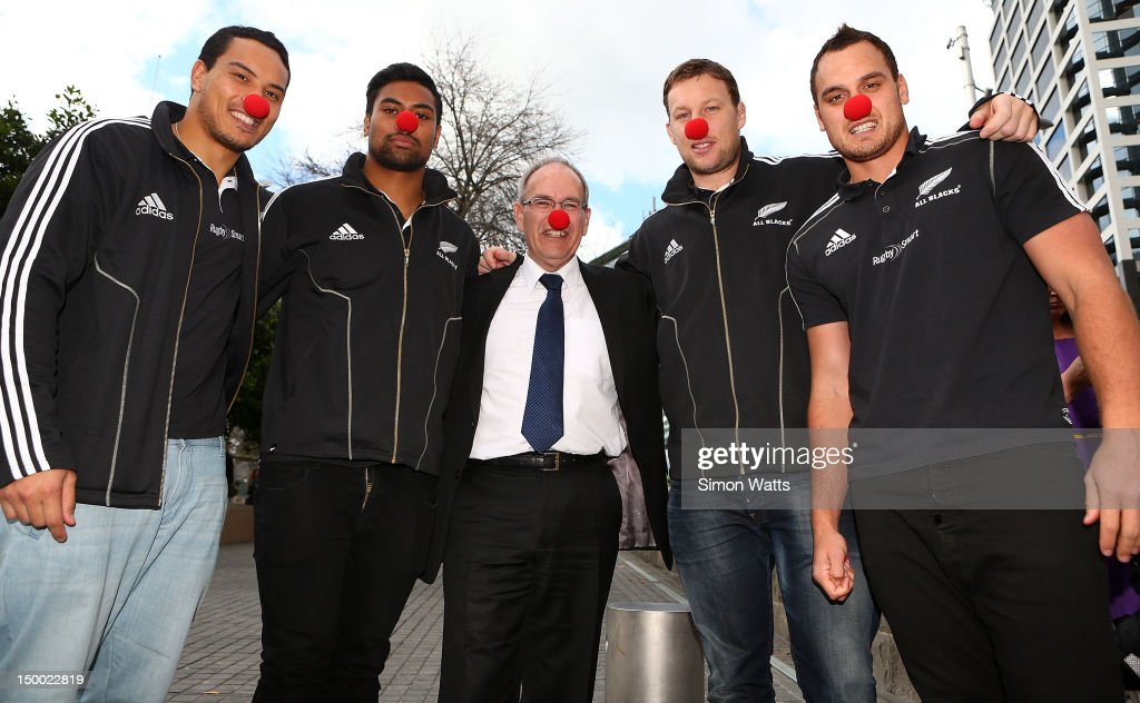 New Zealand All Blacks And Auckland Mayor Len Brown Media Opportunity