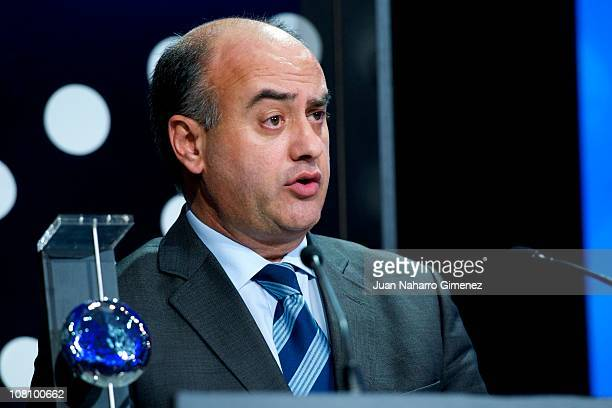 Mayor of Avila Miguel Angel Garcia Nieto attends 'Telefonica Ability Awards' at Telefonica headquarters on January 17 2011 in Madrid Spain
