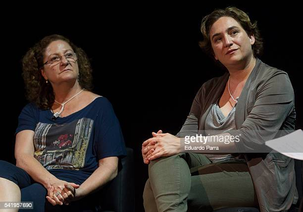Mayor of Barcelona Ada Colau and actress Rosario Pardo attend the 'Mujeres cambiando el pais' event at La Latina theatre on June 21 2016 in Madrid...