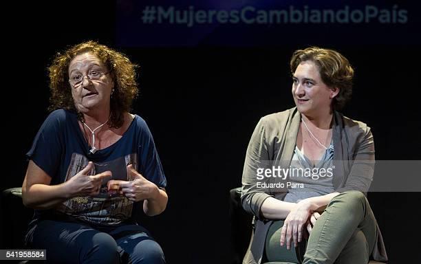 Mayor of Barcelona Ada Colau and actress Rosario Pardo attend the 'Mujeres cambiando el pais' event at La Latina theatre on June 21, 2016 in Madrid,...