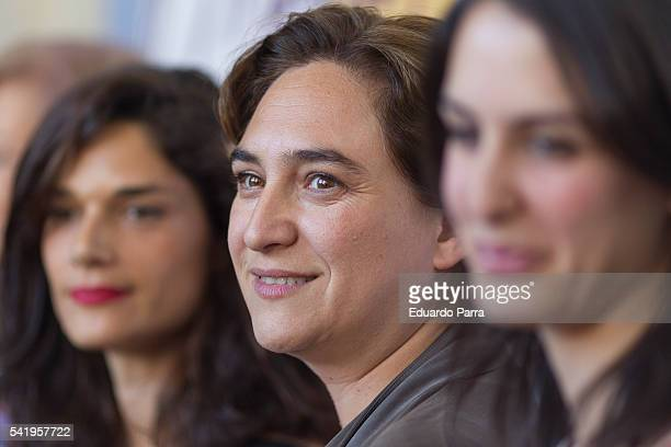 Mayor of Barcelona Ada Colau attends the 'Mujeres cambiando el pais' event at La Latina theatre on June 21 2016 in Madrid Spain