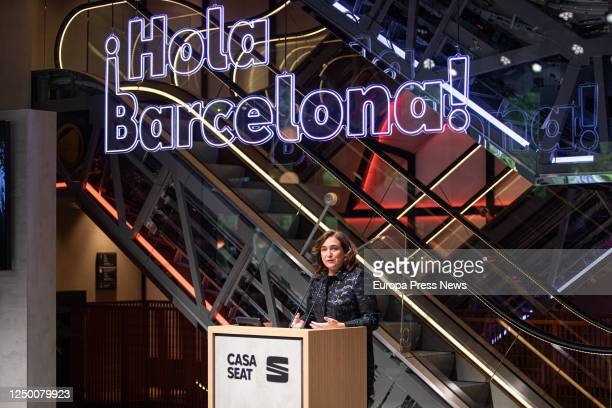 Mayor of Barcelona Ada Colau during the institutional opening of Casa Seat in which the automobile company presented its latest developments in urban...