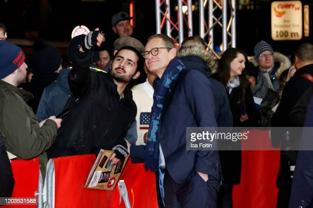 Mayor of Berlin Michael Müller attends the Stateless premiere during the 70th Berlinale International Film Festival Berlin at Zoo Palast on February...