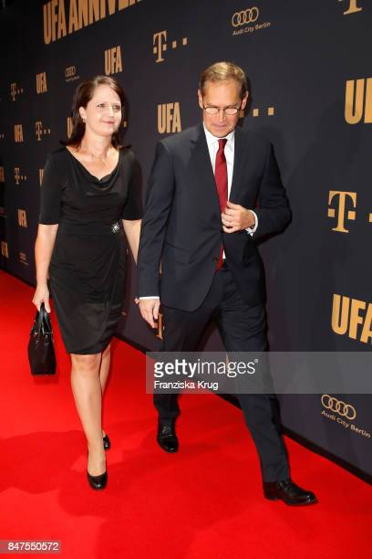 Mayor of Berlin Michael Mueller and his wife Claudia Mueller attend the UFA 100th anniversary celebration at Palais am Funkturm on September 15 2017...