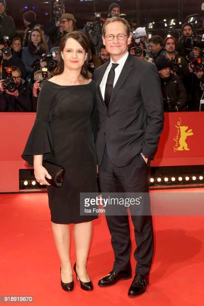 Mayor of Berlin Michael Mueller and his wife Claudia Mueller attend the Opening Ceremony 'Isle of Dogs' premiere during the 68th Berlinale...