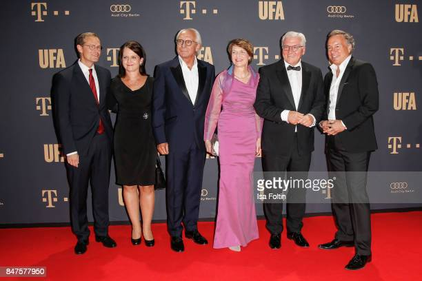 Mayor of berlin Michael Mueller and his wife Claudia Mueller Wolf Bauer director and CEO UFA FrankWalter Steinmeier federal president of Germany and...