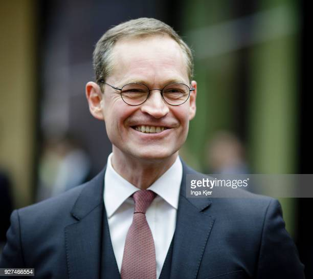 Mayor of Berlin Michael Mueller is pictured prior to a meeting of the Bundesrat on March 02 2018 in Berlin Germany