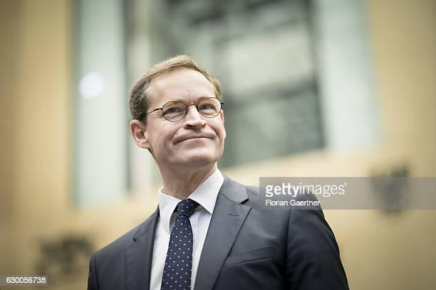 Mayor of Berlin Michael Mueller SPD is pictured before the meeting of the Bundesrat on December 16 2016 in Berlin Germany