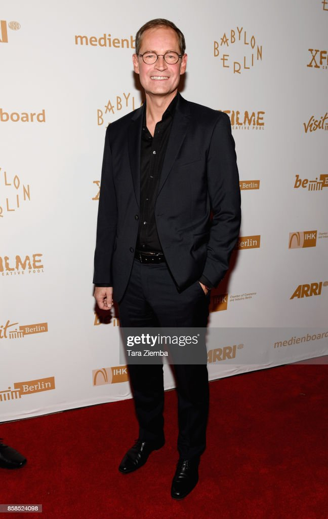 Mayor of Berlin Michael Muller attends the premiere of Beta Film's 'Babylon Berlin' at The Theatre at Ace Hotel on October 6, 2017 in Los Angeles, California.