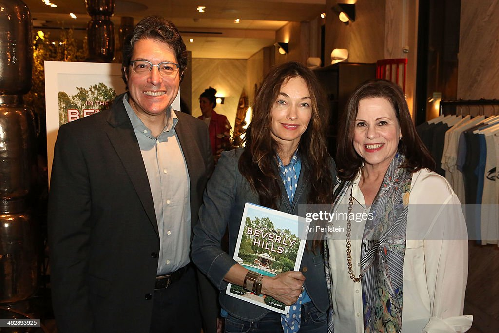 Mayor of Beverly Hills John Mirisch, Kelly Wearstler and Author Nancie Clare attend Assouline's In the Spirit of Beverly Hills Book Launch Cocktail Party Hosted by Kelly Wearstler and Author Nancie Claireon January 15, 2014 in Los Angeles, California.