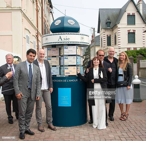 Mayor of Cabourg Tristan Duval Guillaume Laurent Ariane Ascaride Xavier Beauvois Sam Karmann and guest attend the Inauguration of Love Meridian...