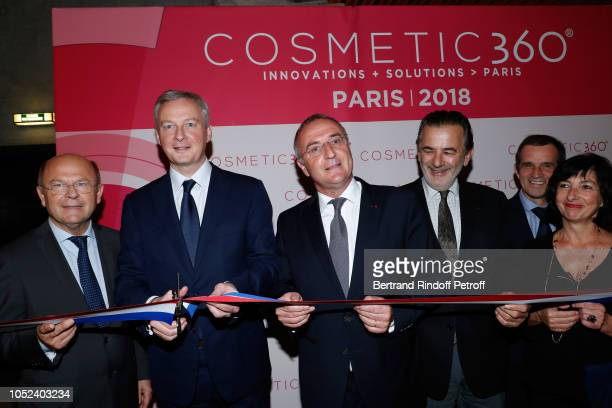 Mayor of Chartres JeanPierre Gorges Minister of Economy and Finance Bruno Le Maire MarcAntoine Jamet and guests attend the Inauguration of the...