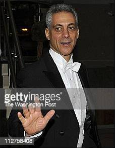Mayor of Chicago Rahm Emanuel arrives for the Gridiron Dinner at the Renaissance Hotel in Washington DC on March 12 2011