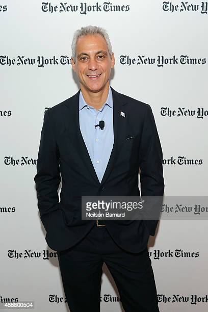 Mayor of Chicago Rahm Emanuel attends the New York Times Schools for Tomorrow conference at New York Times Building on September 17 2015 in New York...