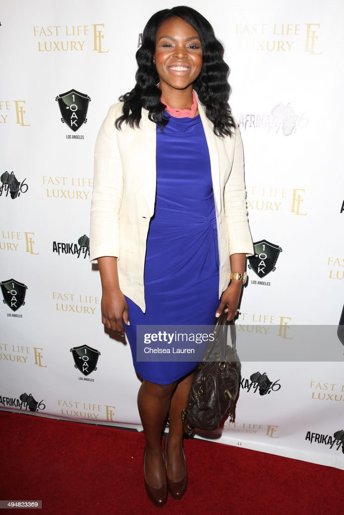 Mayor of Compton Aja Brown arrives at the For Our Girls of Nigeria benefit concert hosted by singer/actor Tyrese Gibson at 1OAK on May 30, 2014 in West Hollywood, California.