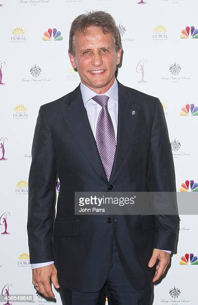 Mayor Of Doral Luigi Borgia attends Press Conference to announce the 63rd annual Miss Universe Pageant at Trump National Doral on October 2, 2014 in...