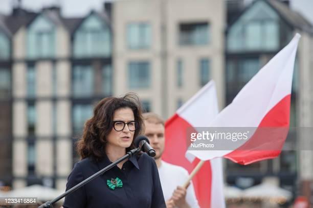 Mayor of Gdansk Aleksandra Dulkiewicz is seen in Gdansk, Poland on 12 June 2021 Trzaskowski visits Gdansk to meet with mayor of the city on promote...