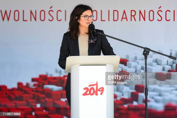 Mayor of Gdansk, Aleksandra Dulkiewicz seen during Freedom and Solidarity Days in Gdansk. Gdansk, in the 1980s became the birthplace of the...