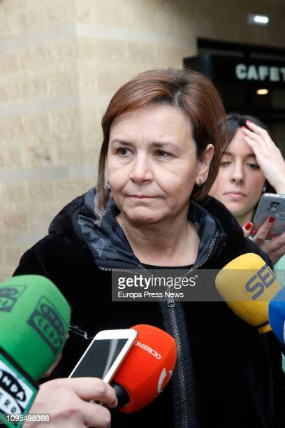 Mayor of Gijón Carmen Moriyón gives the last goodbye to the former president of Asturias Vicente Álvarez Areces in the funeral parlour on January 17...