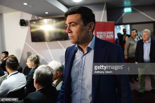 Mayor of Greater Manchester Andy Burnham arrives to a Labour rally ahead of a shadow cabinet meeting on September 02 2019 in Salford England The...