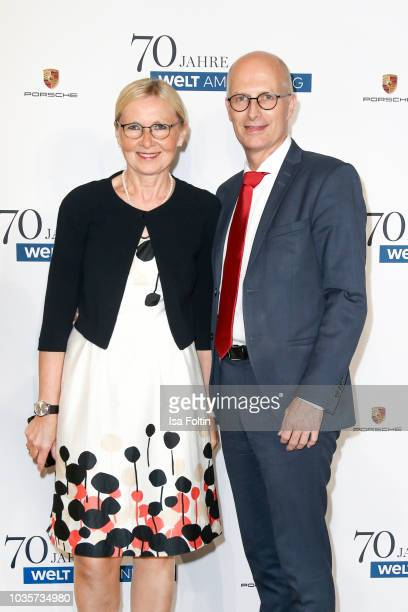 Mayor of Hamburg Peter Tschentscher and his wife Eva-Maria Tschentscher during the 70th anniversary celebration of the German Sunday newspaper WELT...