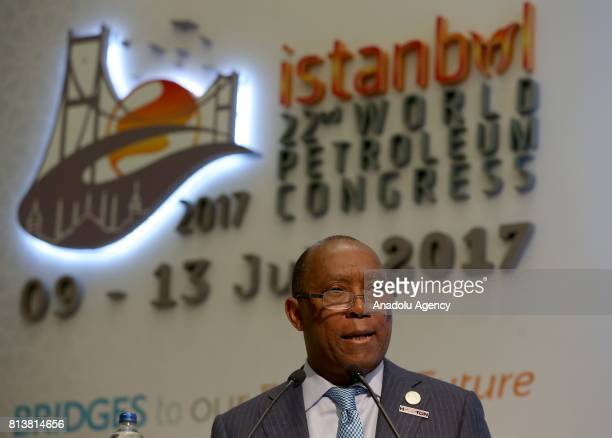 Mayor of Houston state of Texas Sylvester Turner speaks during the 22nd World Petroleum Congress in Istanbul Turkey on July 13 2017