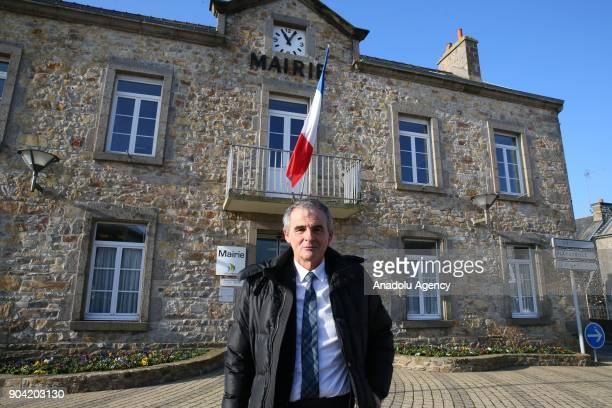 Mayor of Les Pieux which is located near Flamanville nuclear power plant Jacques Lepetit speaks during an interview in Les Pieux France on February...