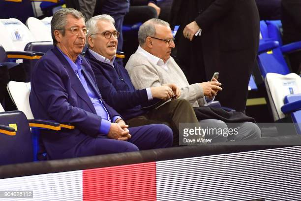 Mayor of Levallois Patrick Balkany during the Pro A match between Levallois Metropolitans and Nanterre 92 at Salle Marcel Cerdan on January 13 2018...