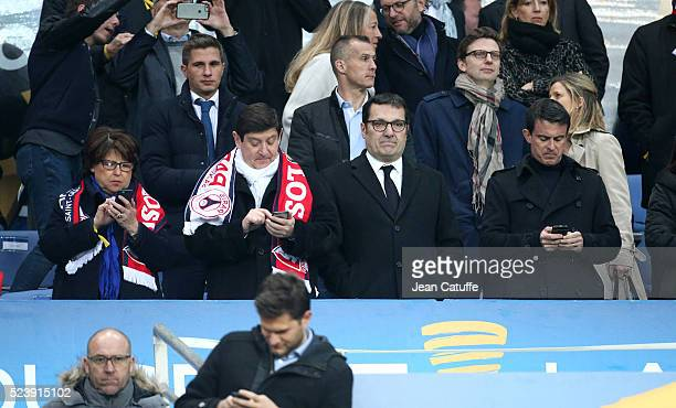 Mayor of Lille Martine Aubry French Minister of Sports Patrick Kanner new President of French League Didier Quillot French Prime Minister Manuel...