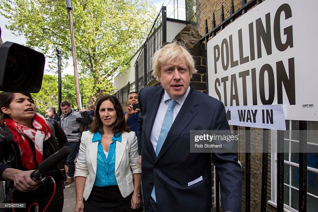 Boris Johnson Casts His Vote As The UK Goes To The Polls : News Photo