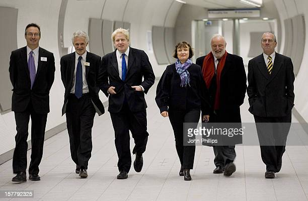 Mayor Of London Boris Johnson And Minister For London Tessa Jowell Join Others Including Frank Dobson During The Opening Of The StateOfTheArt Ticket...