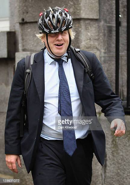 Mayor of London Boris Johnson arrives at Portcullis House on September 6 2011 in London England Mr Johnson and officials from the Metropolitan Police...