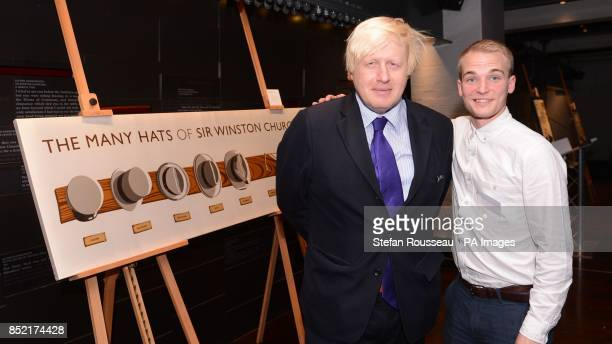 Mayor of London Boris Johnson at the Churchill War Rooms in London today where he presented Nick Jameson with the first prize in the Pentland Winston...