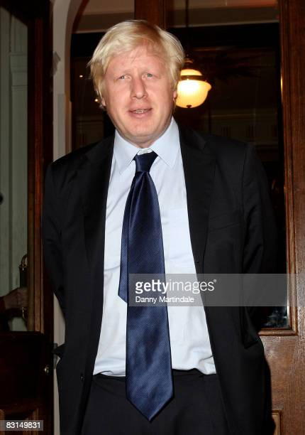 Mayor of London Boris Johnson attends the Evening Standard's party on October 6 2008 in London England
