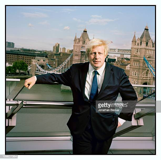 Mayor of London Boris Johnson is photographed for Tatler Magazine on September 3 2009 in London England Published image