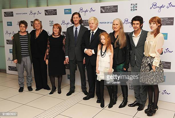 Mayor of London Boris Johnson poses with composer Mark Bradshaw Producers Caroline Hewitt Jan Chapman Samuel Roukin Edie Martin Director Jane Campion...