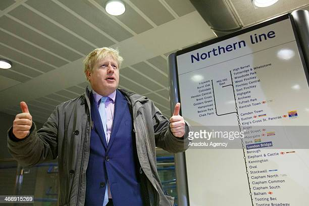 Mayor of London Boris Johnson speaks to the media over a 48 hour strike because of almost 1000 workers disemployment and closing the ticket office by...