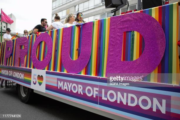 A mayor of London Float seen during the parade The 50th Pride Parade toke place through Central London with over one million participants