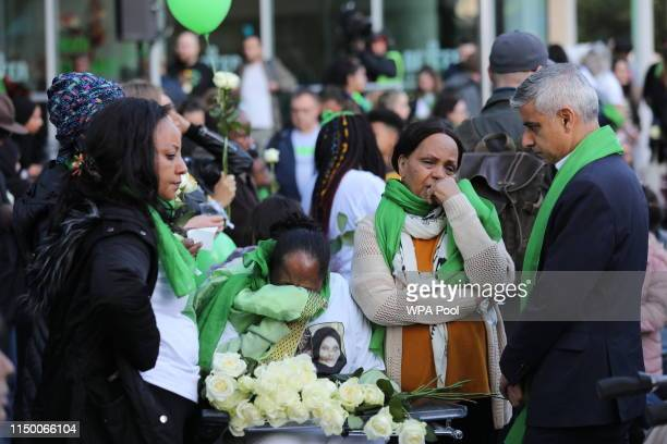 Mayor of London Sadiq Kahn arrives outside Grenfell Tower, London, to meet family and friends ahead of the wreath laying ceremony, which marks the...