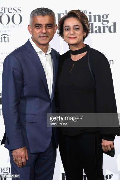 Mayor of London Sadiq Khan and Saadiya Khan attend London Evening Standard's Progress 1000 London's Most Influential People event at on October 19...