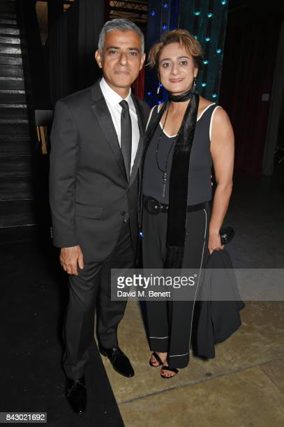 Mayor of London Sadiq Khan and Saadiya Khan attend the GQ Men Of The Year Awards at the Tate Modern on September 5 2017 in London England