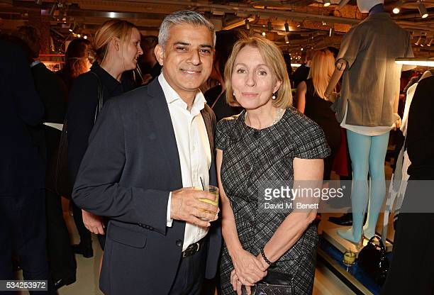 Mayor of London Sadiq Khan and Sarah Sands Editor of the London Evening Standard attend the London Evening Standard Londoner's Diary 100th Birthday...