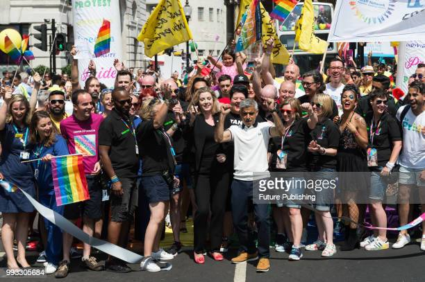 Mayor of London Sadiq Khan and Secretary of State for International Development Penny Mordaunt officially launch the Pride in London parade The...