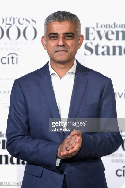 Mayor of London, Sadiq Khan attends London Evening Standard's Progress 1000: London's Most Influential People event at on October 19, 2017 in London,...