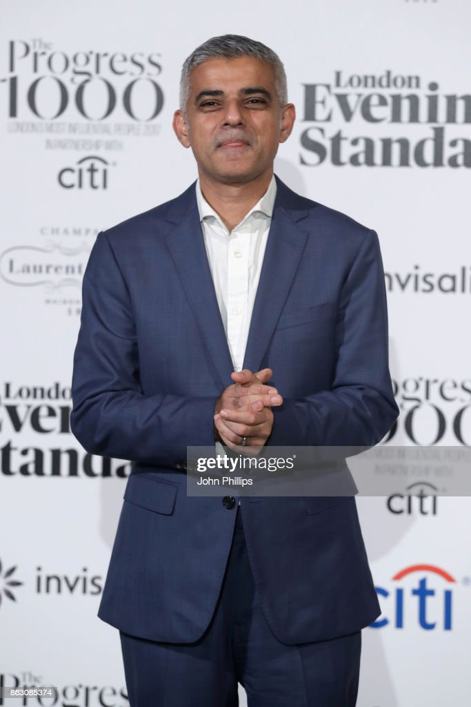 Mayor of London, Sadiq Khan attends London Evening Standard's Progress 1000: London's Most Influential People event at on October 19, 2017 in London, England.