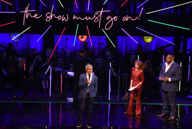 "GBR: Mayor Of London Sadiq Khan Visits ""The Show Must Go On!"""