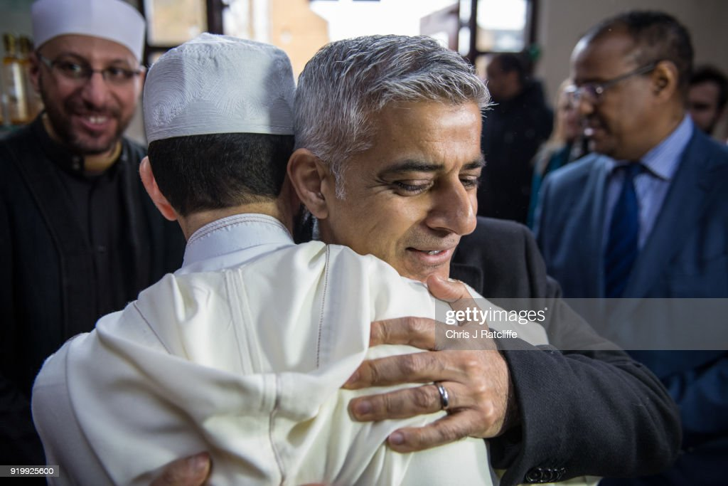 London Mayor Sadiq Khan Meets Cultural Leaders on 'Visit My Mosque Day'