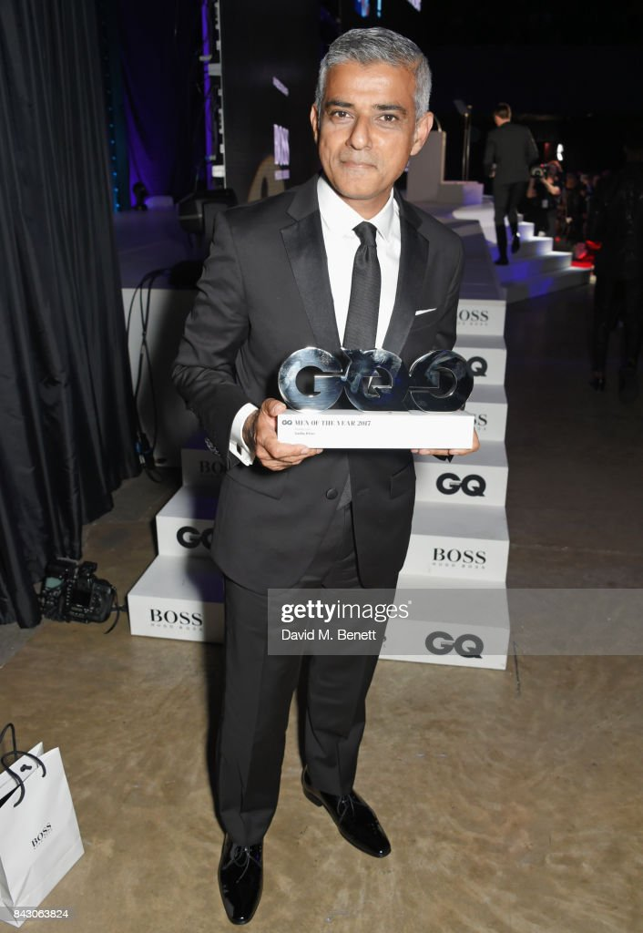 Mayor of London Sadiq Khan, winner of the Politician of the Year award, attends the GQ Men Of The Year Awards at the Tate Modern on September 5, 2017 in London, England.